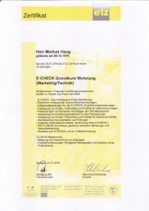 E-CHECK Zertifikat